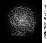 head face silhouette vector... | Shutterstock .eps vector #359178362