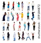 "collection "" back view people "".... 