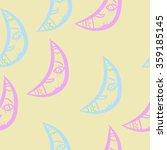 seamless pattern  doodles half... | Shutterstock . vector #359185145