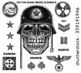 Vector Gang Biker Elements