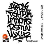 graffiti font | Shutterstock .eps vector #359210135
