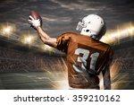 football player on a orange... | Shutterstock . vector #359210162