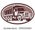 tipper truck illustration... | Shutterstock .eps vector #359225402