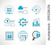 data analytics and network... | Shutterstock .eps vector #359228156