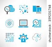 data analytics and network... | Shutterstock .eps vector #359231768