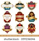 vctor luxury labels | Shutterstock .eps vector #359236046
