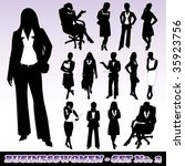 highly detailed silhouettes of... | Shutterstock .eps vector #35923756