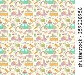 travel vector seamless pattern. | Shutterstock .eps vector #359238956