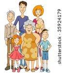 extended family   vector | Shutterstock .eps vector #35924179