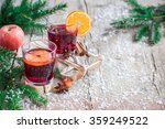 hot red mulled wine with ...   Shutterstock . vector #359249522