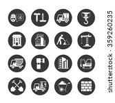 construction icons set | Shutterstock .eps vector #359260235