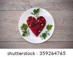 beetroot and vegetables salad...   Shutterstock . vector #359264765