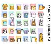 cute animals  icon set  vector ... | Shutterstock .eps vector #359278538