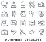 medical icon set suitable for... | Shutterstock .eps vector #359281955