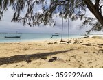 rope seat on a tropical summer... | Shutterstock . vector #359292668