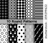 10 round seamless patterns ... | Shutterstock .eps vector #359299622