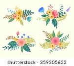set of floral elements for... | Shutterstock .eps vector #359305622