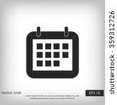 calendar icon | Shutterstock .eps vector #359312726