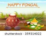 vector illustration of happy... | Shutterstock .eps vector #359314022