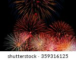 Bright Fireworks Finale. ...