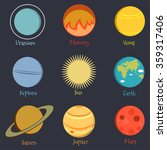 set of vector icons on the... | Shutterstock .eps vector #359317406