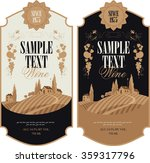 wine labels with a landscape of ... | Shutterstock .eps vector #359317796