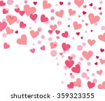 many little pink hearts on... | Shutterstock . vector #359323355