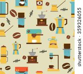 coffee background. vector... | Shutterstock .eps vector #359326055