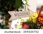 signboard wedding | Shutterstock . vector #359334752