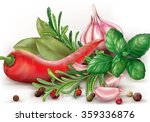 chili hot pepper and aromatic...   Shutterstock .eps vector #359336876
