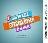 super sale paper banner.... | Shutterstock .eps vector #359348018