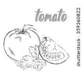vector vegetables. food. stock... | Shutterstock .eps vector #359360822