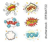 boom. comic book explosion set | Shutterstock . vector #359364722