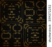 vector set of gold decorative... | Shutterstock .eps vector #359372252
