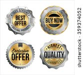 silver and gold badges. set of... | Shutterstock .eps vector #359374052