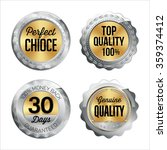 silver and gold badges. set of... | Shutterstock .eps vector #359374412