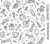 black carnival symbols in... | Shutterstock .eps vector #359375072