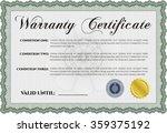 warranty certificate template.... | Shutterstock .eps vector #359375192