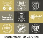 set of vector music production... | Shutterstock .eps vector #359379728