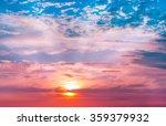 beautiful sunset  light... | Shutterstock . vector #359379932