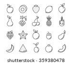 fruit outline icon set. vector...   Shutterstock .eps vector #359380478