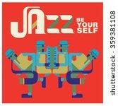 vintage jazz quote poster | Shutterstock .eps vector #359381108