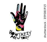 vintage jazz design poster    Shutterstock .eps vector #359381915