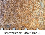 rusted metal surface and screw... | Shutterstock . vector #359410238