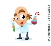 scientist with test tubes  | Shutterstock .eps vector #359412815