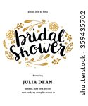 bridal shower invitation... | Shutterstock .eps vector #359435702