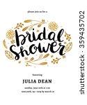 bridal shower invitation... | Shutterstock .eps vector #359435702