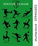soccer shadow  set | Shutterstock .eps vector #359441852