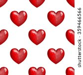 hearts seamless pattern. red... | Shutterstock .eps vector #359466566