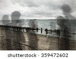 spirits or ghosts like shadows... | Shutterstock . vector #359472602